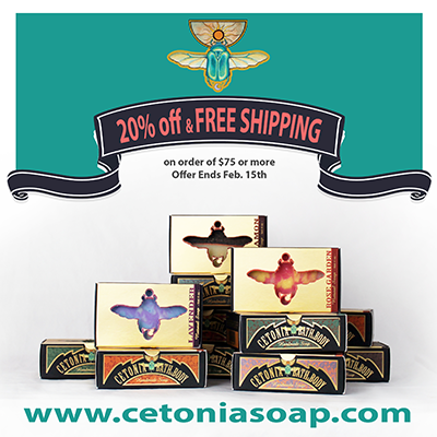 20% Off at Cetonia Bath & Body and Free Shipping on Orders $75 & over